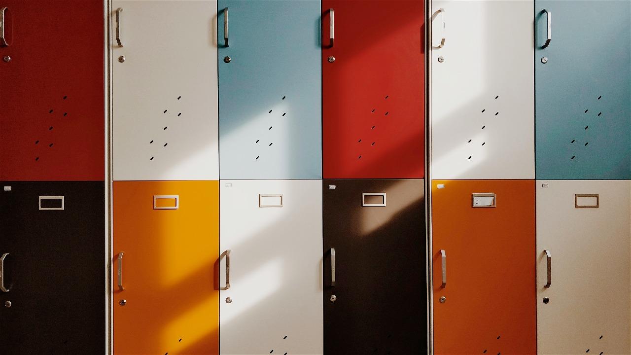 Gekleurde lockers